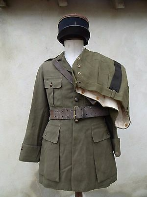 1940'S French Officers Uniform Hat with Belt Infantry FRANCE 1940