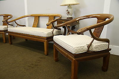 Quality Hardwood Carved Ming Style Chinese/oriental Bench Seat/sofa & Chairs