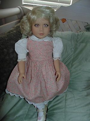 """My Twinn 23"""" Doll Bent Knee Blonde with Lavender Pink Eyes VERY Gently Used RARE"""