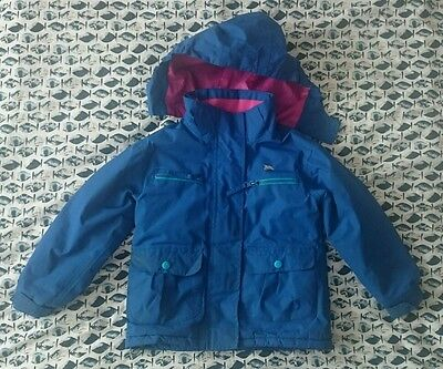 Girls Waterproof Paddes Trespass Coat Age 2-3. Blue, Pink.