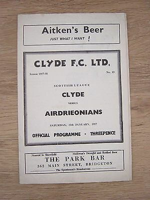 1956/57 Clyde V Airdrie