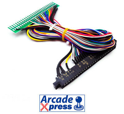 Extension Jamma Cable Arcade PCB Harness Wire 50cm 12 action buttons 28 pin