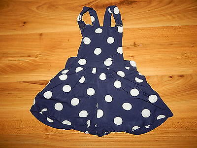 NEXT girls short navy dungarees outfit 9-12 months *I'll combine postage