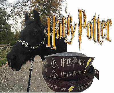 "Horse Headcollar ""Harry Potter"" With Leadrope Pony Cob Full Various Sizes"