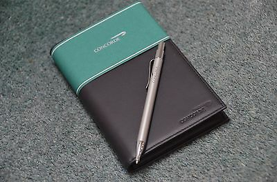 British Airways Concorde Leather Bound Diary With  Pen