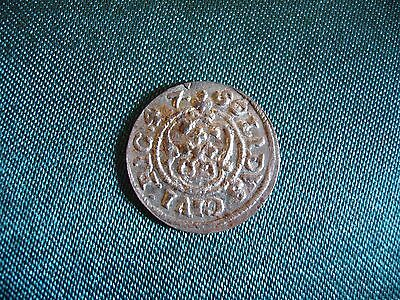 Silver Medieval Coin Rare year!!  Solidus 1647. LIVONIA RIGA SWEDISH OCCUPATION