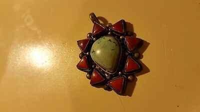 Ancient Turquoise and Carnelian Pendant