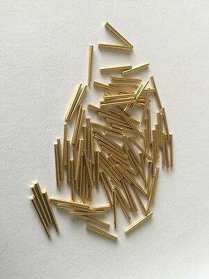 Clock Pins Brass 10 16mm X100 Pack