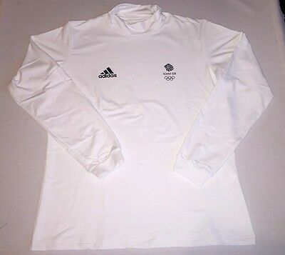 Olympic Team GB TNeck Baselayer Thermal Lined VIST Adidas ATHLETE ISSUE BNWT S