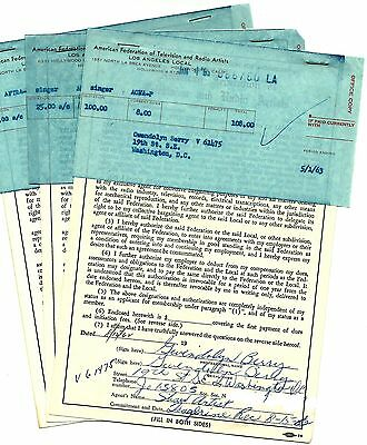 Raelettes R&b And Soul Signers Ray Charles Signed Autograph Aftra Documents