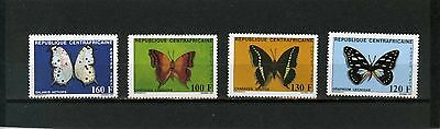CENTRAL AFRICAN REPUBLIC 1987 Sc#866-869 BUTTERFLIES SET OF 4 STAMPS MNH
