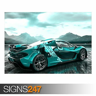 Photo Picture Poster Print Art A0 to A4 CAR POSTER MCLAREN P1 REAR AA571