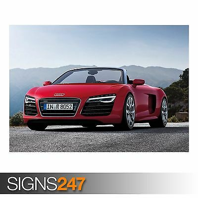 AA706 CAR POSTER Photo Picture Poster Print Art A0 to A4 AUDI R8 WOLVERINE