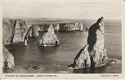 John O Groats - The Stacks Of Duncansby - Caithness -  Real Photo  - Postcard