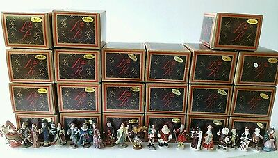 21 Duncan Royale History of Santa Claus Pewter Miniatures w/ Box & COA Lot of 21