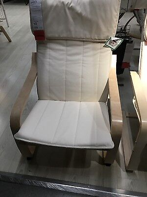ikea white rocking chair and stool