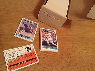 Complete Set 1992 Donruss MLB Baseball Trading Cards