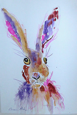 "Fridge Magnet,Hare posing  large Colourful magnet   4.25"" by 5.5"""