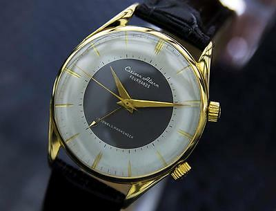 Citizen Four Hands Very Rare Mens Vintage Alarm 17J Gold Plated 1960s Watch 1346
