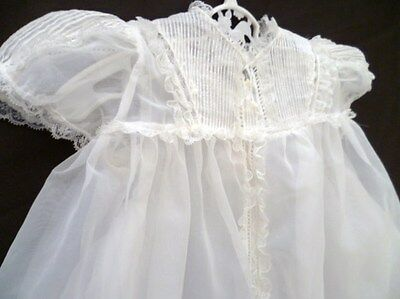 Vintage INFANT/BABY CHRISTENING Dress GOWN w/ SLIP