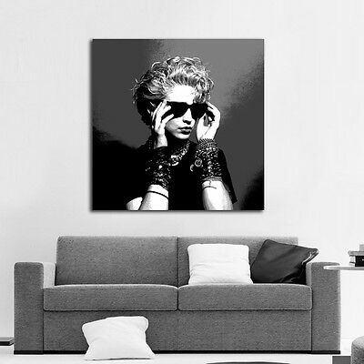 Poster Mural Madonna Musician Pin Up Model 40x40in (100x100cm) Adhesive Vinyl