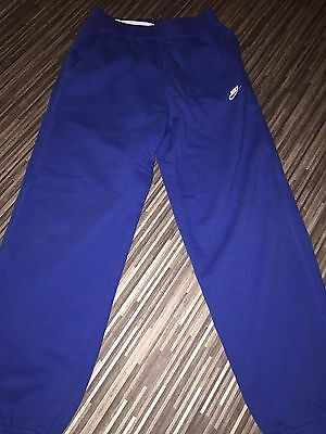 Nike tracksuit bottoms age 14-16 years blue elasticated waist draw string