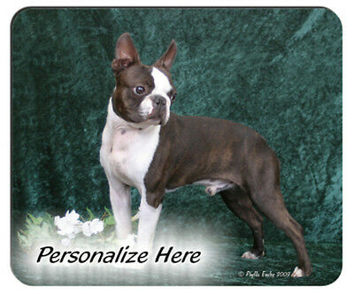 Boston  Terrier  Personalized  Mouse Pad