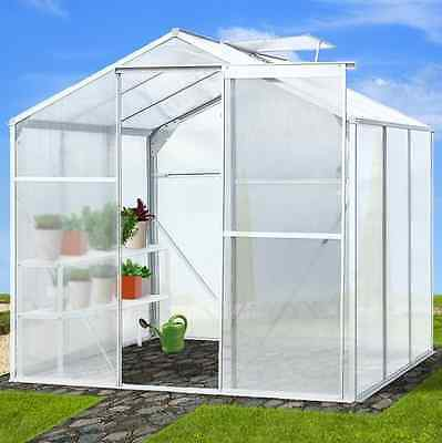 Garden Greenhouse Polycarbonate Growing Plants Slide Door Grow House With A Base