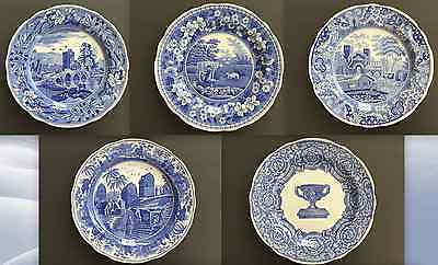 """Set of 5 Spode Blue Room Collection 10½"""" Dinner Plates Traditions Series England"""
