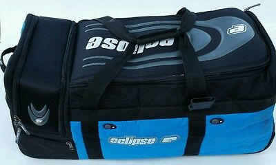 Eclipse Rolling Travel Large Bowling Bag w/ Wheels Black & Blue