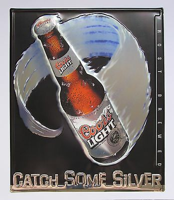 Coors Light Beer Tin Sign