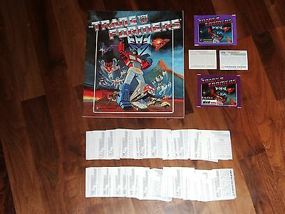 Transformers 1986 Panini nr-empty Sticker Album with all 256 loose stickers &...