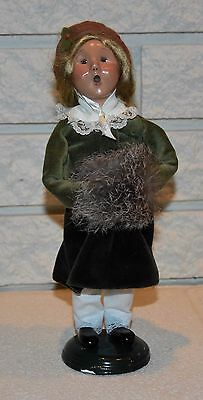 Byers choice the Carolers 1998 Signed Child with Treats
