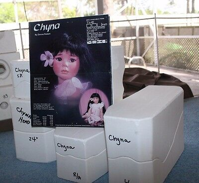"""DOLL ARTWORKS DOLL MOLD ~ 24"""" CHYNA Head / Shoulder Plate / Arm Molds + Patterns"""