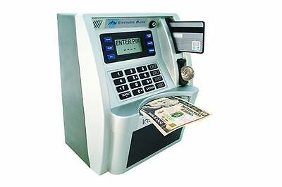 Kids Atm Bank Piggy Silver Coin Money Savings Cash Safe Box Counting Electronic