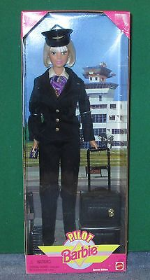 Barbie Doll - Pilot Barbie With Luggage & Passport!  New In Box