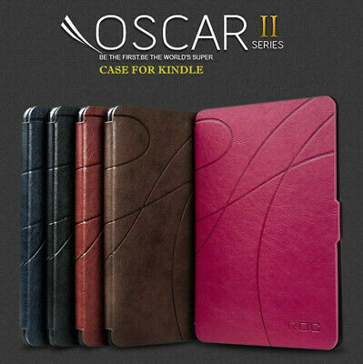 Leather Smart Case Cover with LED Light for Amazon Kindle 8th generation 2016