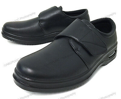 Men's Comfort Shoes Slip Resistant Straps Air Cushion Walking Restaurant Work