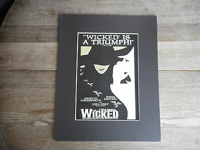 Wicked Musical Poster Kristen Chenowith & Idina Menzel Joel Gray no frame