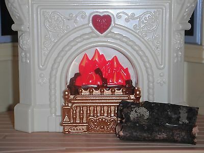 Dollhouse Miniature Christmas Chimney Fire Place Pile Stack of Fire wood logs