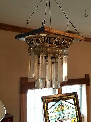 Antique Petite Nickel Wedding Cake Chandelier. Bathroom Closet Accent