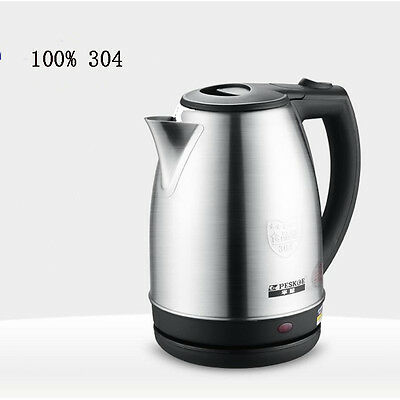 Auto Shutoff Boil Protection Stainless Steel Cordless Electric Kettle 2.0L