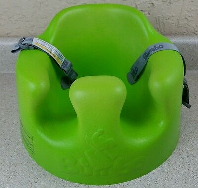 Bumbo Lime Green Baby Seat Chair With Restraint Belt Straps