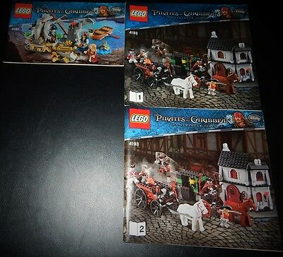 Lego-Pirates of the Caribbean instruction manuals (3)