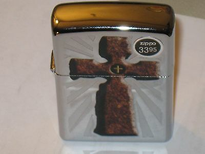 New Zippo Lighter USA Rugged Cross Jesus shed His Blood for Us Christ God Church
