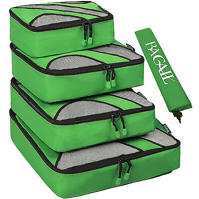 AU 5 Pcs 9 Colors Packing Cubes Travel Luggage Packing Organizers Laundry Bags