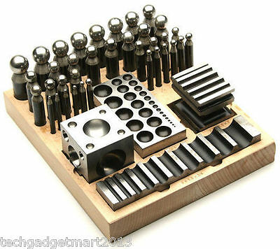 41 Pc Jumbo Doming Punch and Block Set wooden stand st421