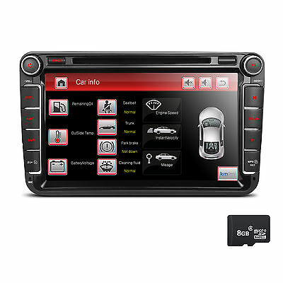 "NEU 8"" Autoradio DVD GPS für VW T5 Polo GOLF 5 6 PASSAT TIGUAN TOURAN Caddy SEAT"