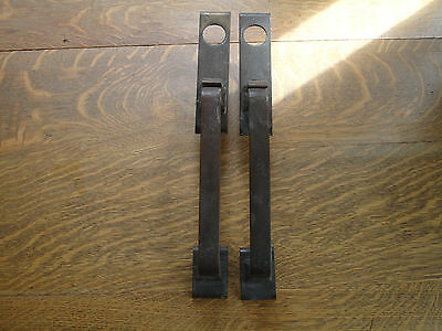 Pair of Vintage Large Von Duprin Solid Brass Commercial Industrial Door Handles