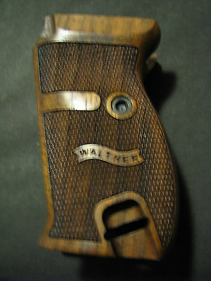 Walther P38 P1 Fine English Walnut Checkered Pistol Grips w/LEFT SIDE LOGO ONLY